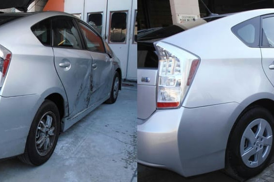 2012 Toyota Prius before/after