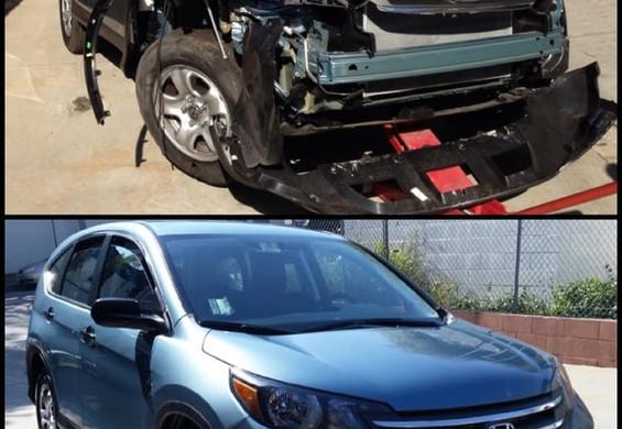 2014 Honda CRV before/after