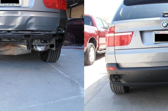 2010 BMW X5 before/after
