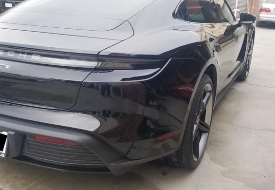 Porsche Taycan after