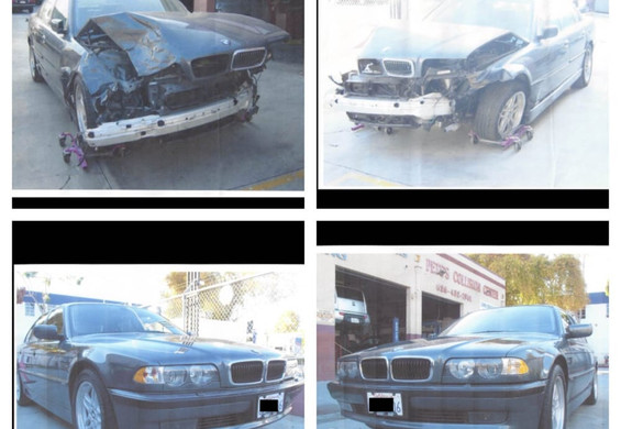 2000 BMW 740i before/after