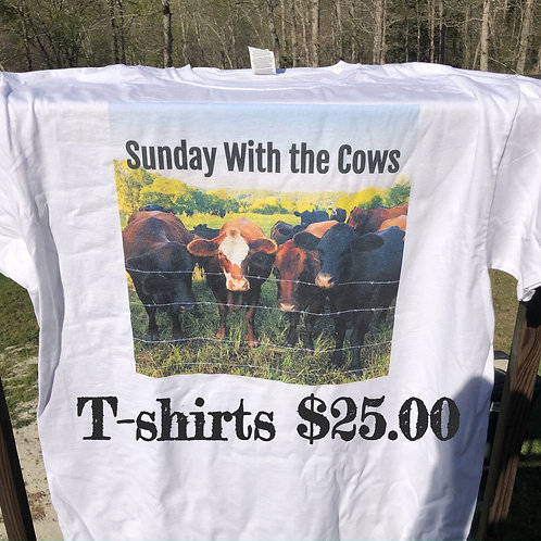 Sunday With the Cows T-shirts