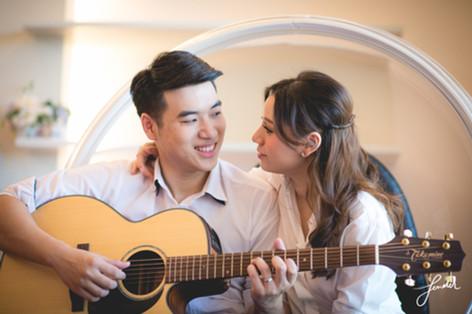 พรีเวดดิ้ง   คู่รักเล่นกีต้าร์   FenderFoto