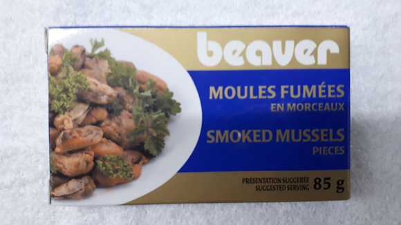 MOULES FUMEES BEAVER 85GR