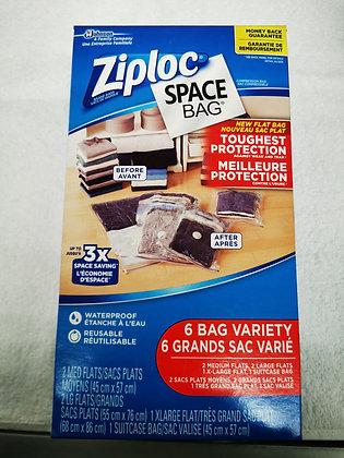 6 SACS VARIES SPACE BAG ZIPLOC