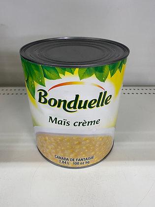 BONDUELLE MAIS EN CREME 2.84L