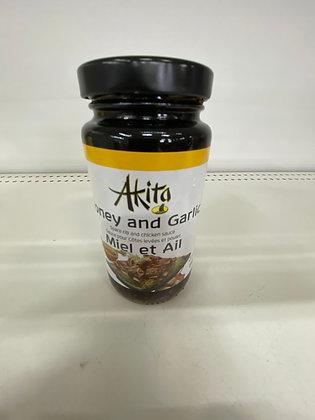 AKITA SAUCE MIEL & AIL 250ML