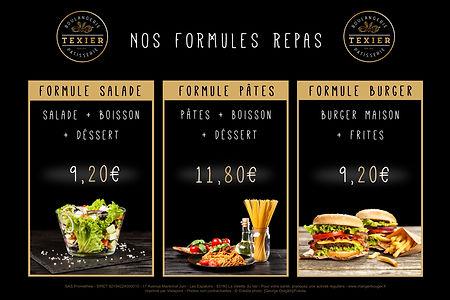 Nos formules repas - Boulangerie Texier