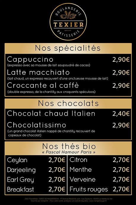 Nos spécialités, chocolats et thés bios