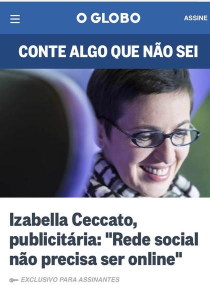 Saímos no Jornal O Globo!