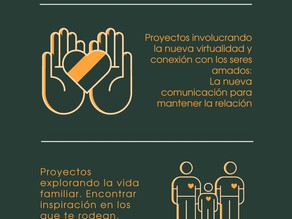 Infografia sobre Estrategias pandémicas del Nuevo Cine creada por alumos de la UArtes.