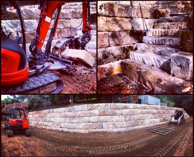 Sandstone Retaning Wall - 02