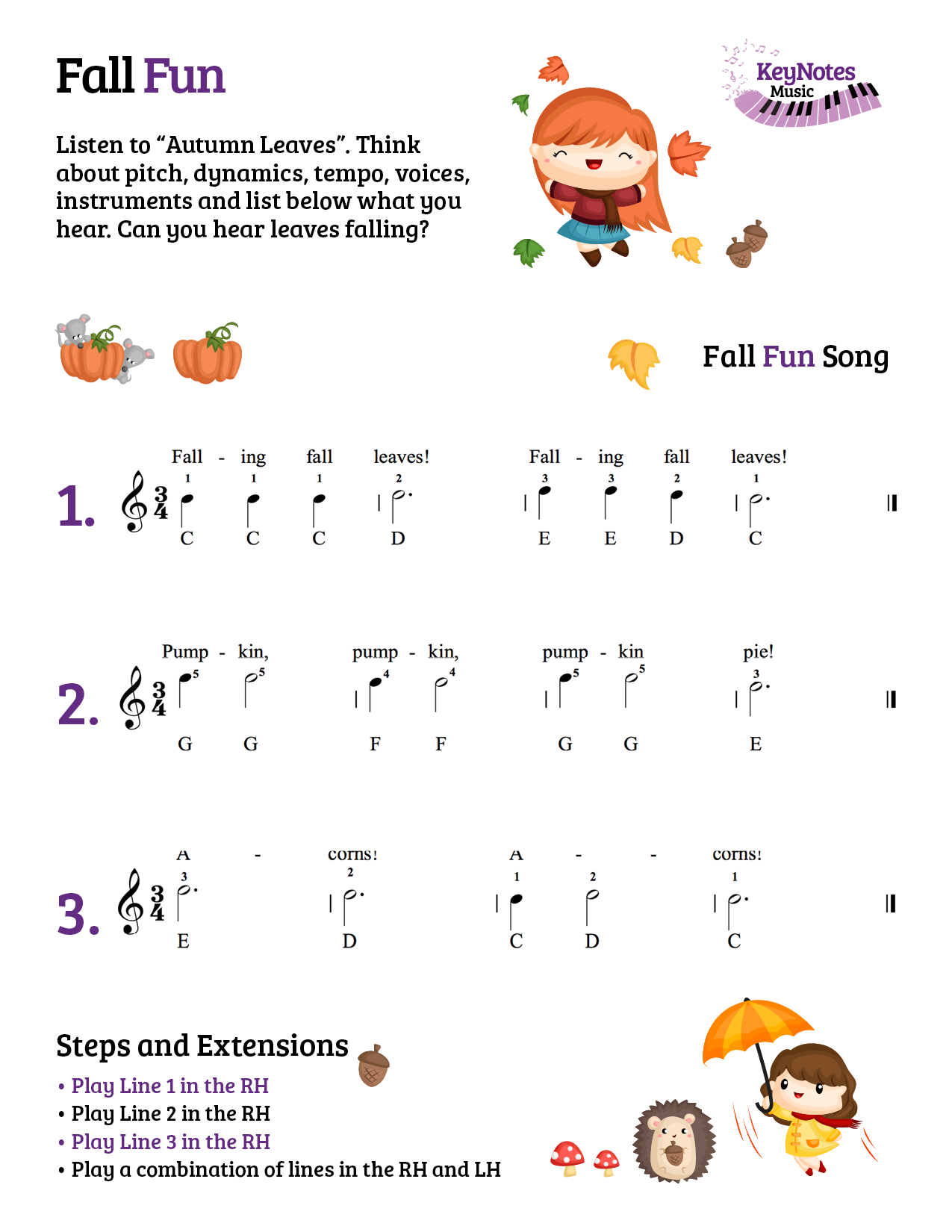 Fall Fun - Pre-readers - US