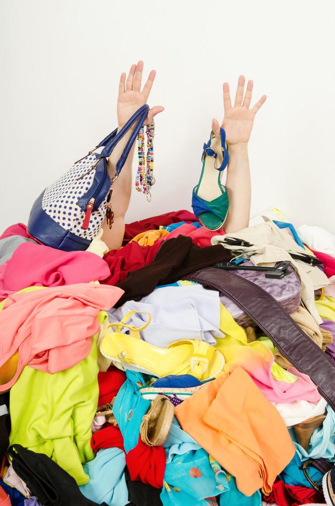 Closet Clean.......the struggle continues!