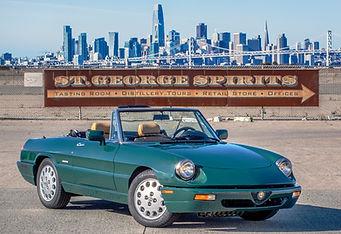 Alfa Romeo Spider San Francisco Skyline St. George Spirits