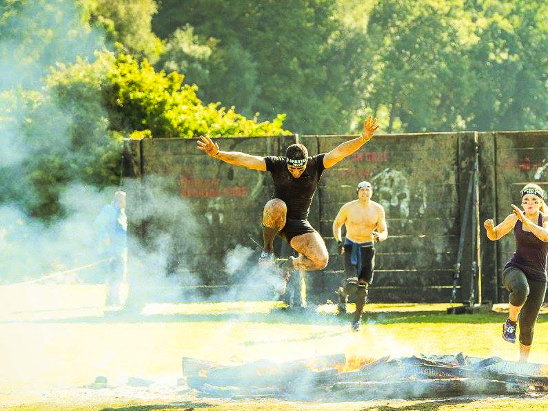 Stuart Munnich COO of Rogue Events takes part in spartan race
