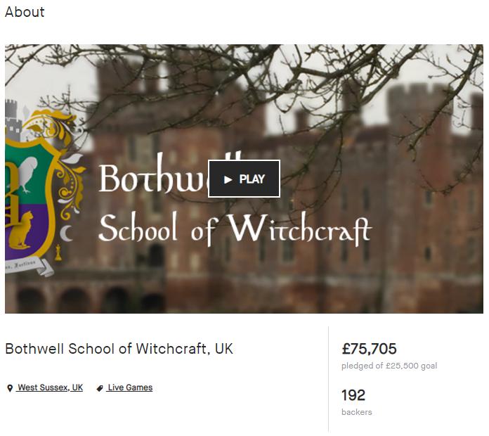 Kickstarter for Bothwell School of Witchcraft