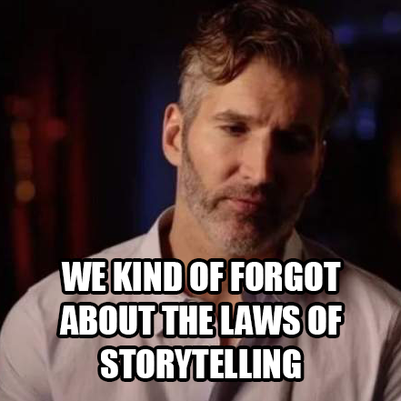 David Benioff forgets about story telling