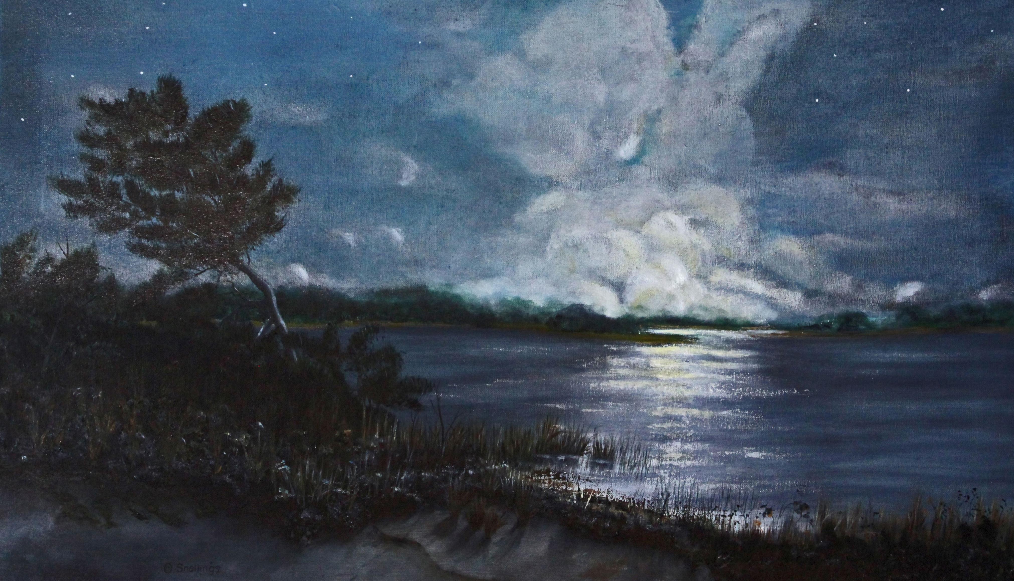 Moonrise on Middle Island