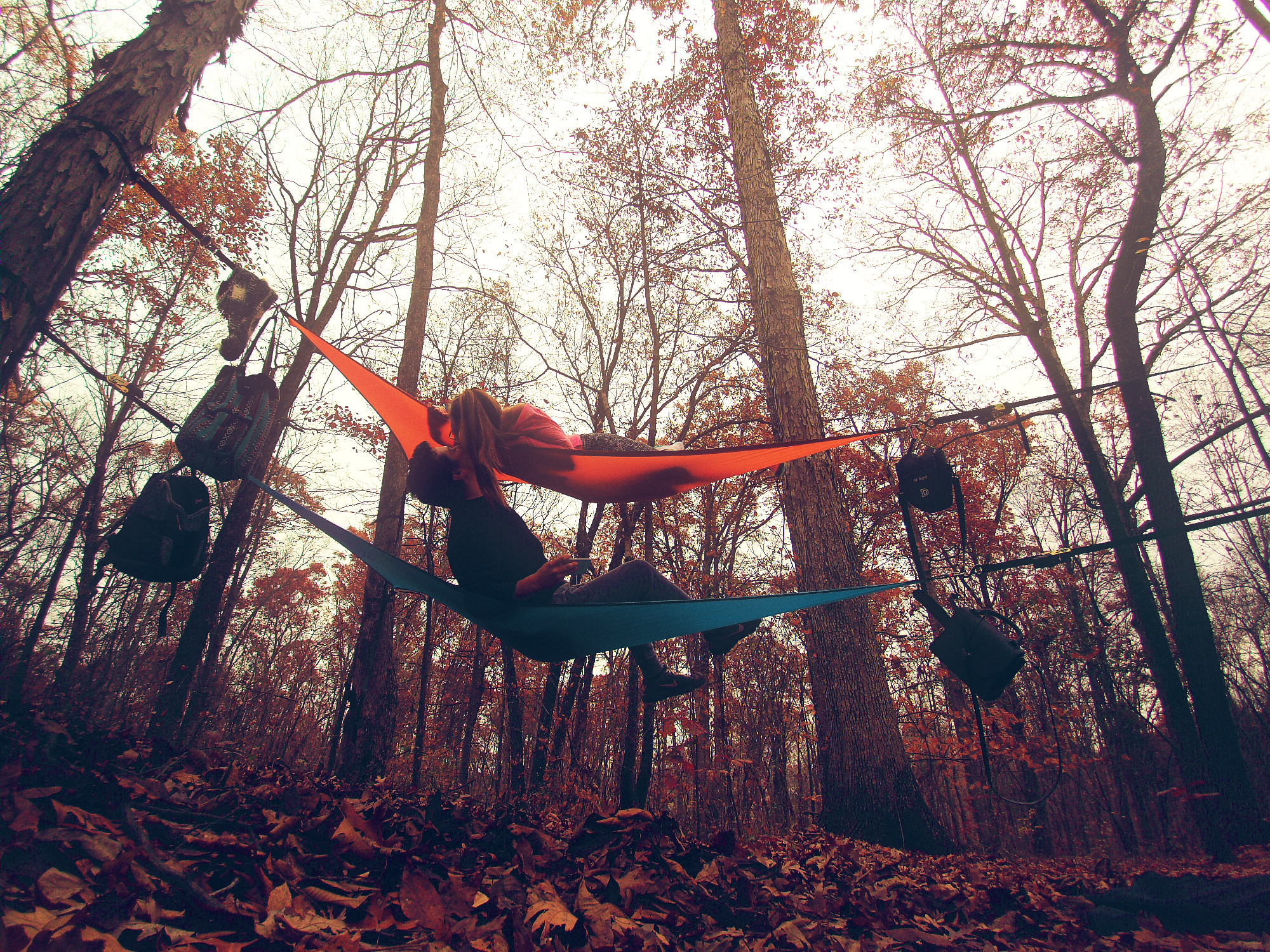 Orange & Blue 3-Point Hammock