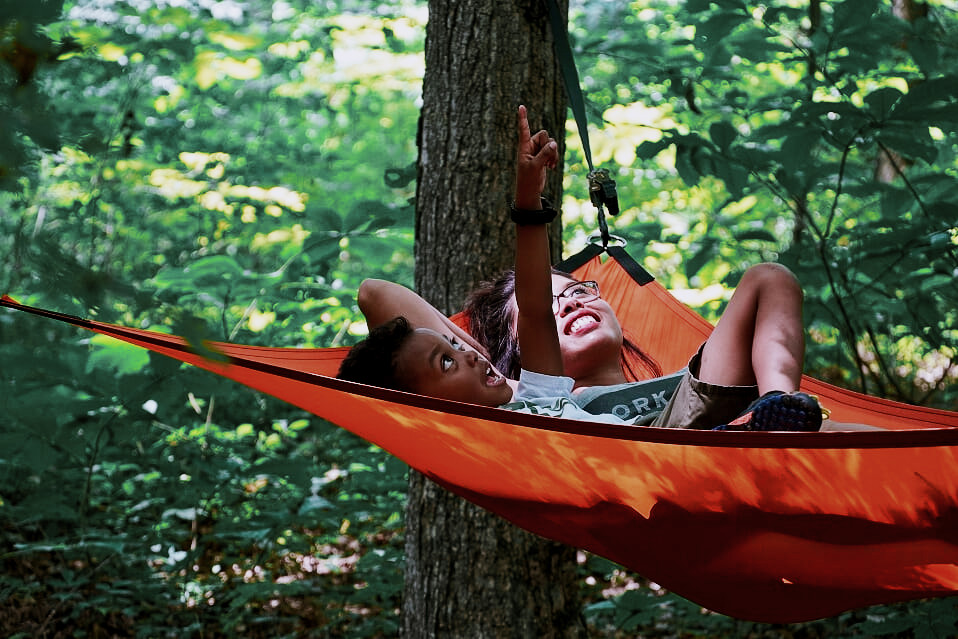 Orange 3-Point Hammock