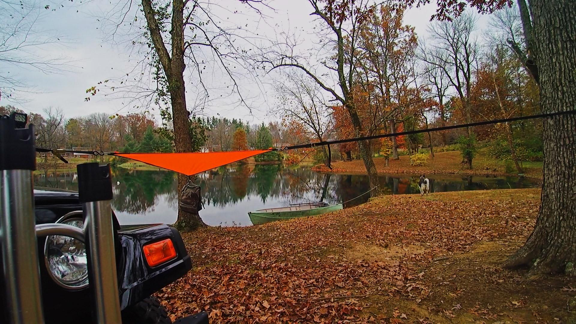Orange 3-Point Hammock