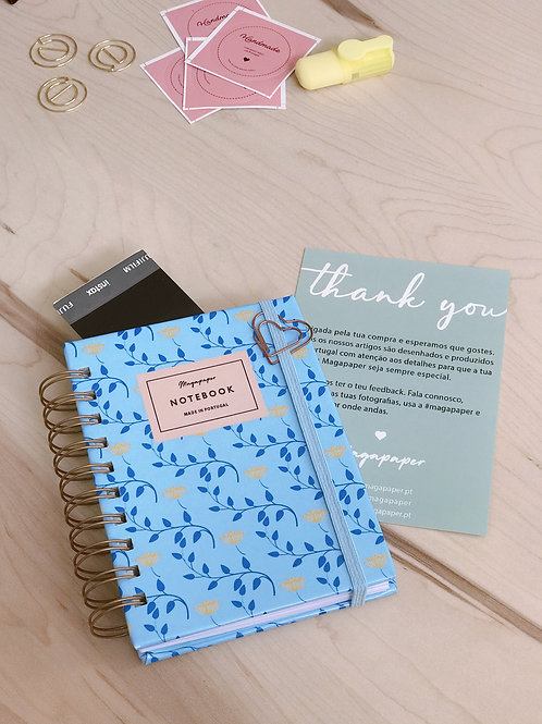 Notebook Blue Party A6