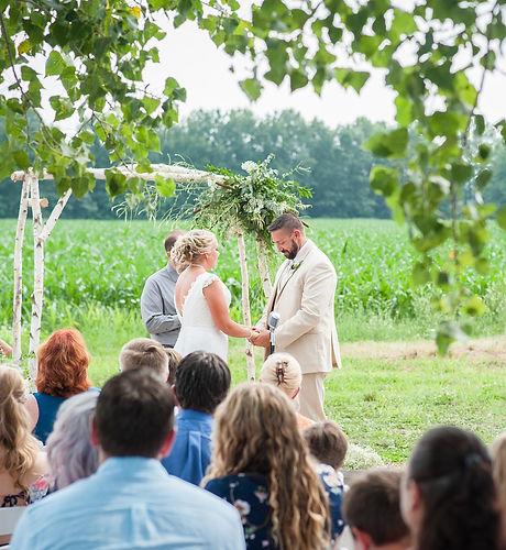 Farm Wedding at Secret Garden Weddings a Michigan Wedding Venue