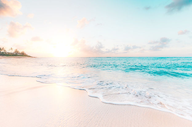 Calming beach scene