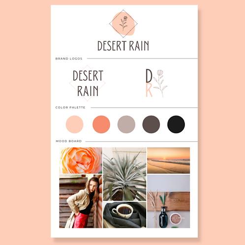 Desert Boho Inspired Boutique Brand Kit