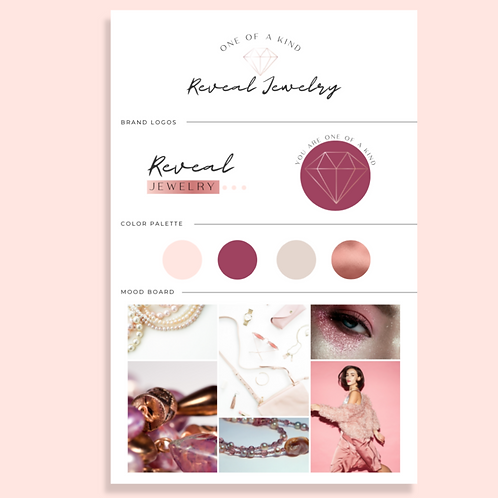 Rose Gold & Purple Jewelry Boutique Brand Kit