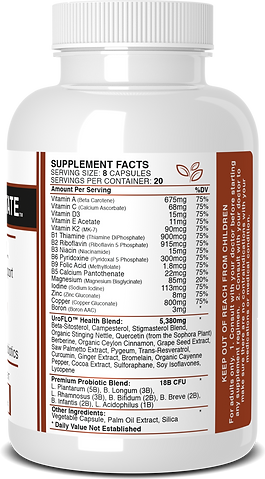 UroFLO Ingredients