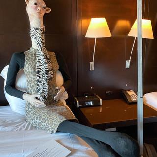Room at the Inn (hominidae giraffa cameloparadalis gravidam)