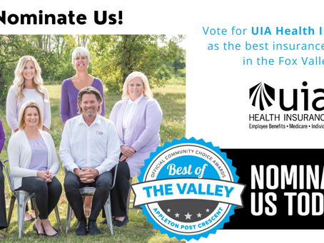 Vote for UIA Health Insurance as Best Insurance Agency in the Valley!