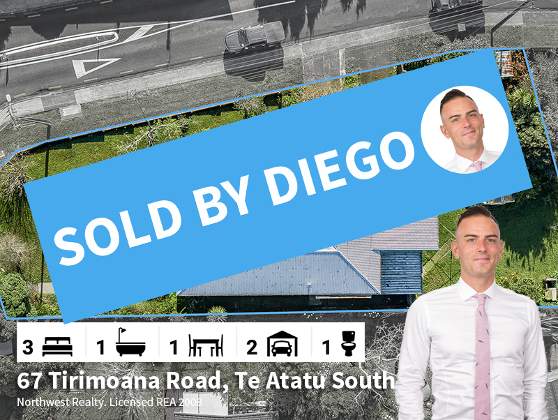 67 Tirimoana Road, SOLD by Diego