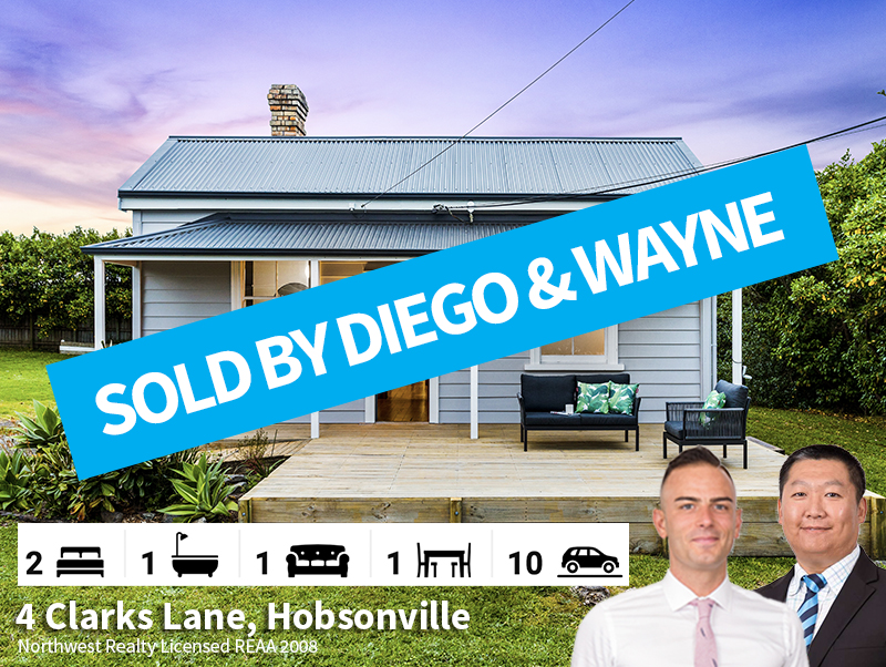 4 Clarks Lane, Hobsonville SOLD by Diego