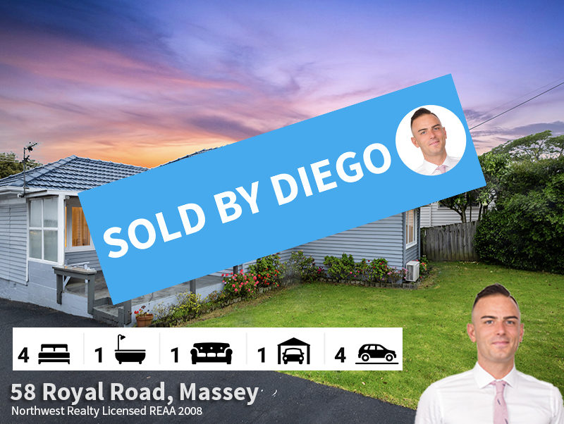 58 Royal Road, Massey SOLD by Diego