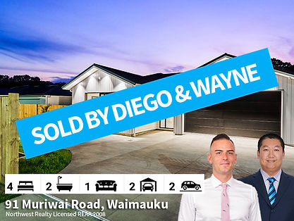 91 Muriwai Road, Waimauku SOLD by Diego
