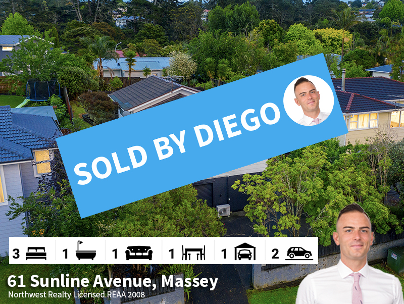 61 Sunline Avenue, Massey SOLD by Diego.