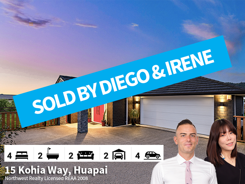 15 Kohia Way SOLD by Diego & Irene
