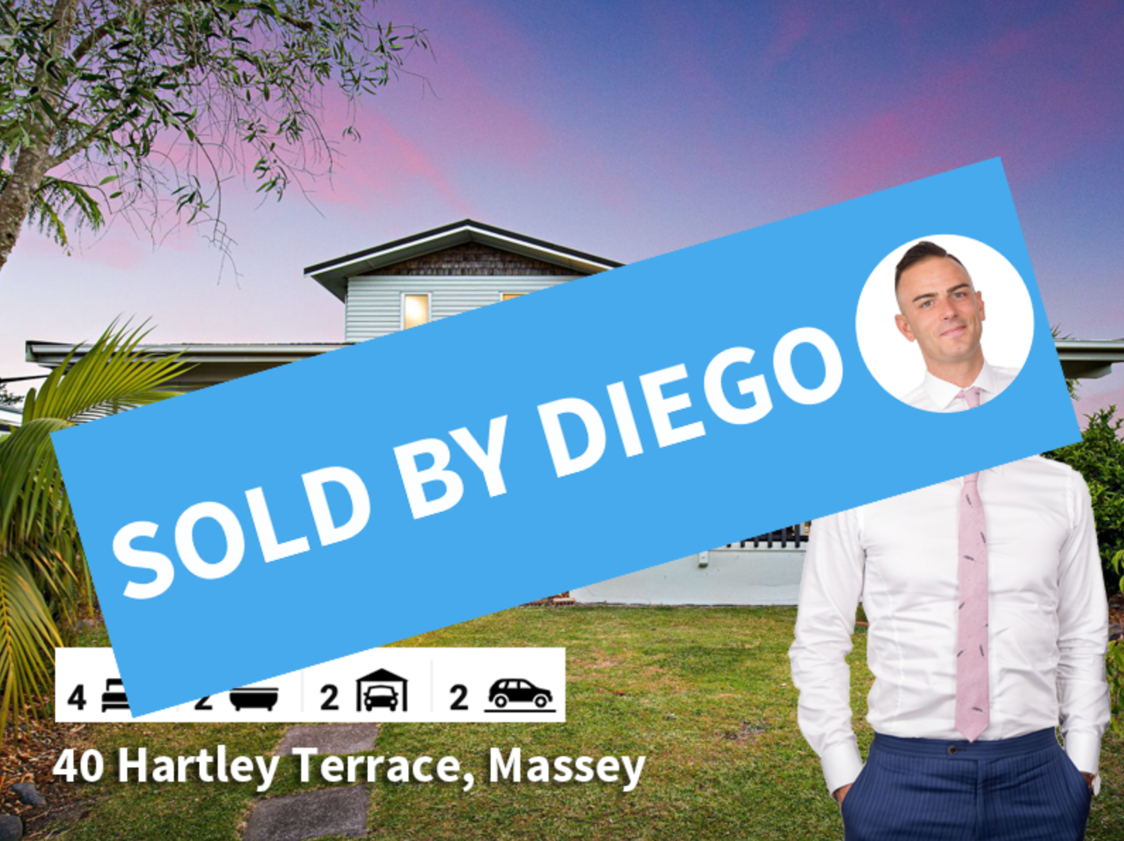40 Hartley Terrace Massey SOLD by Diego