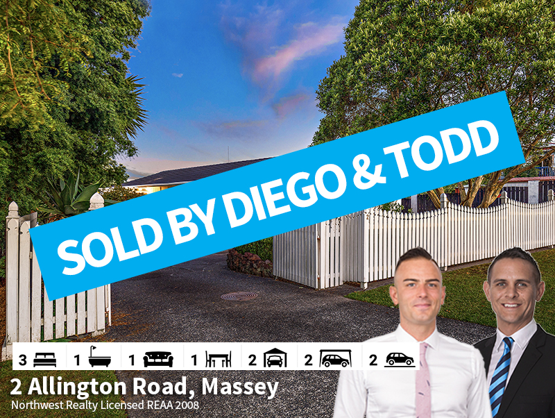 2 Allington Road, Massey SOLD by Diego &