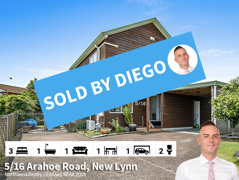 5-16 Arahoe Road, New Lynn SOLD by Diego