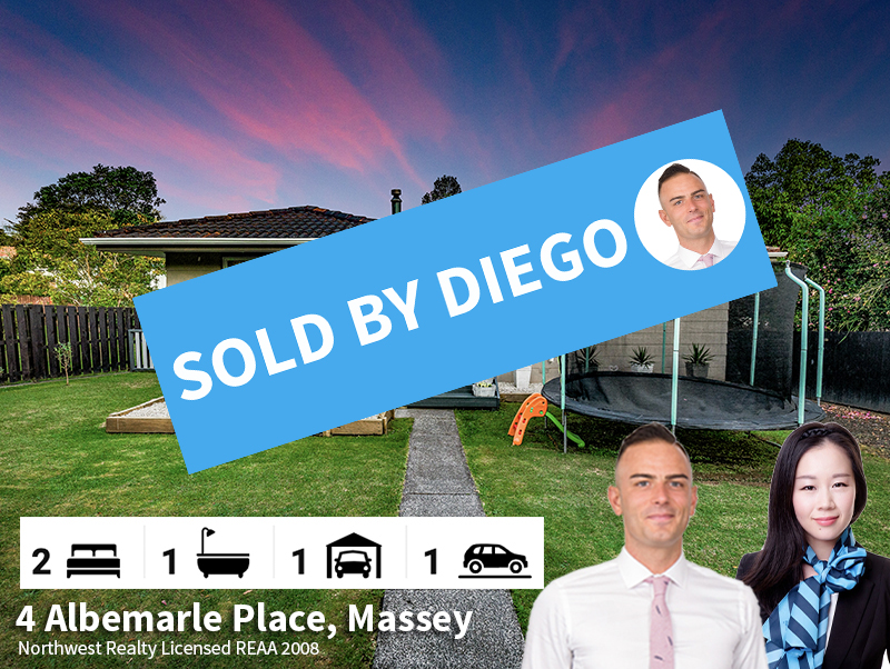 4 Albemarle Place, Massey SOLD by Diego