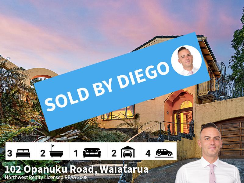 102 Opanuku Road, Waiatarua SOLD by Dieg
