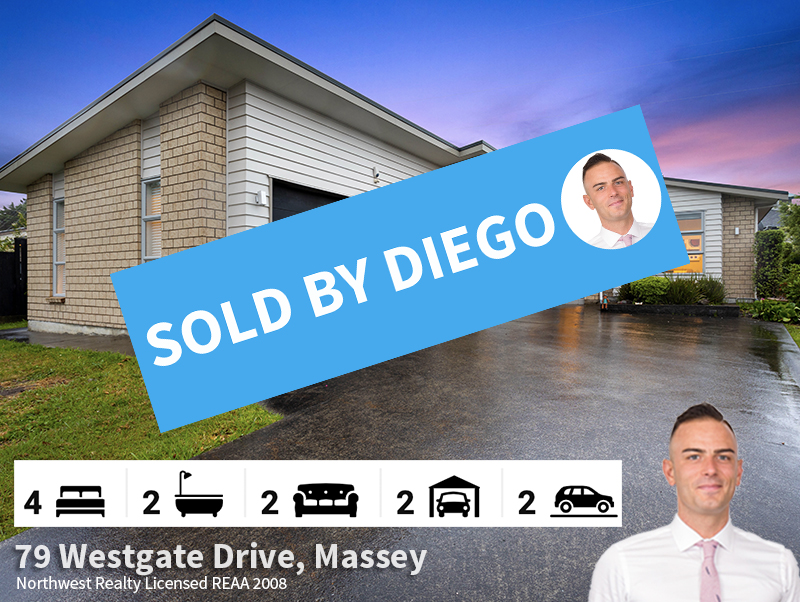 79 Westgate Drive, Massey SOLD by Diego.