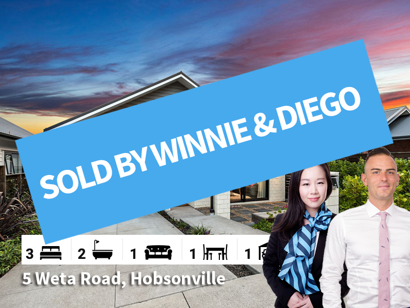 5 Weta Road, Hobsonville SOLD by Diego &
