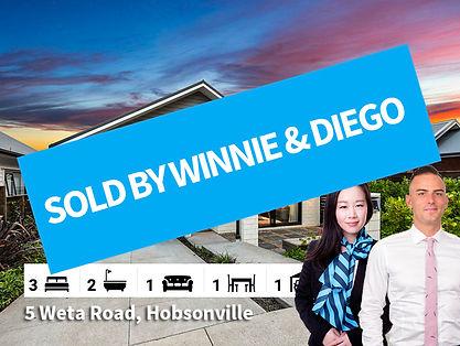 5 Weta Road, Hobsonville SOLD by Diego &