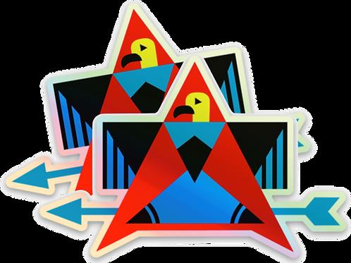 Holographic Thunderbird Stickers (2)