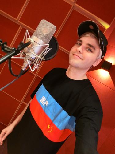 Slater in the recording studio